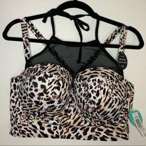 Leopard Torrid Bikini Top